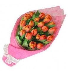 Букет из 21 тюльпана «Тепло объятий»