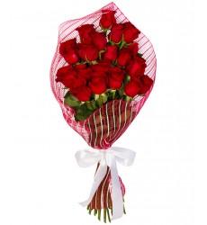 Букет из 21 красной розы «Красная комета»