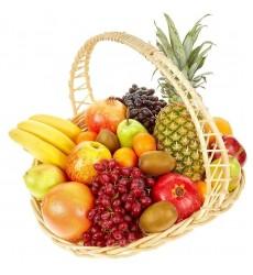 Фруктовая корзина с тропическими фруктами «Вкусное желание»