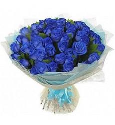 Букет из 39 синих роз «Синее синего»