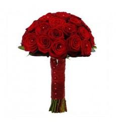 Букет невесты из 21 красной розы Гран При «Рубиновая страсть»