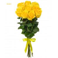 Букет из 11 жёлтых роз «Медовый сон»