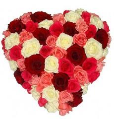 Цветочная композиция из 51 розы «Валентинов день»