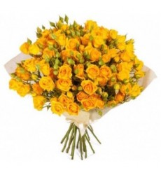 Букет из 17 кустовых роз «Чудесный сад»
