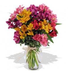 Букет из 21 альстромерии «Цветочный эскиз»