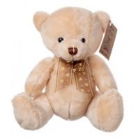 «Медвежонок с бантом бежевый 20 см»
