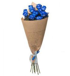 Букет из 5 синих роз «Ночи такие длинные»
