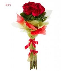 Букет из 7 красных роз «Сердце Кармен»