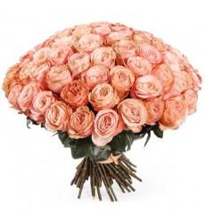 Букет из 69 роз Остина «Нежное кружево»