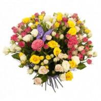 Букет из 15 кустовых роз «Изящный силуэт»