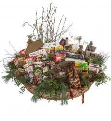 Подарочная корзина со сладостями, продуктами и вином S.ORSOLA LAMBRUSCO EMILIA «Вкус праздника»