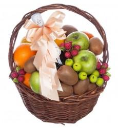 Подарочная корзина со сладкими фруктами и игристым вином Bosco «Женское искушение»