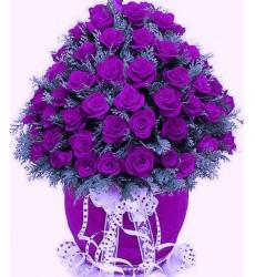 Букет из 65 фиолетовых роз «Все для тебя»