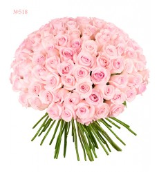 Букет из 101 розовой эквадорской розы «Смущённая нимфа»