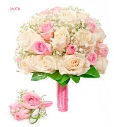 Букет невесты из 35 роз  «Связанные любовью»