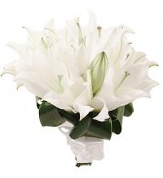 Букет невесты из 4 белых лилий «Нежная лилия»