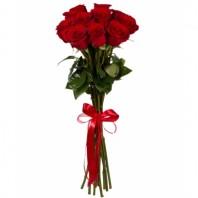 Букет из 11 красных роз «Кубинская страсть»