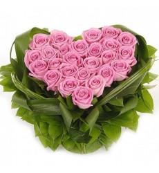 Букет из 25 розовых роз Аква «Чистая романтика»