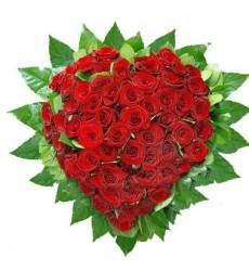 Цветочная композиция из 51 красной розы Гран При «Твой Купидон»