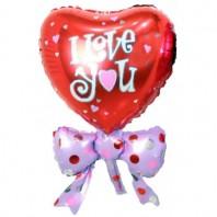 Воздушный шар в форме сердца «Red Love»