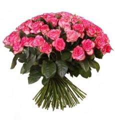 Букет из 51 розовой розы «Цветы Эдема»