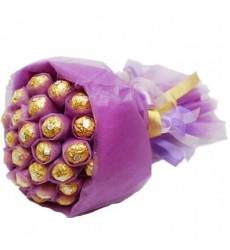 Букет из 25 конфет Ferrero Rocher «Шоколад Купидона»