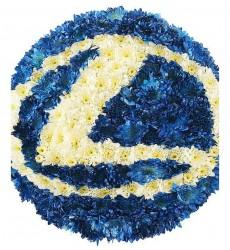 Цветочная композиция логотип из 25 кустовых хризантем «Секрет стиля»