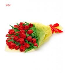 Букет из 25 красных тюльпанов «Южная весна»