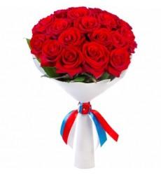 Букет из 19 красных роз Гран При «Знак внимания»