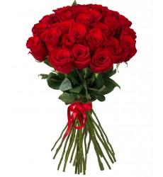 Букет из 25 красных роз «Чарующая Бастет»