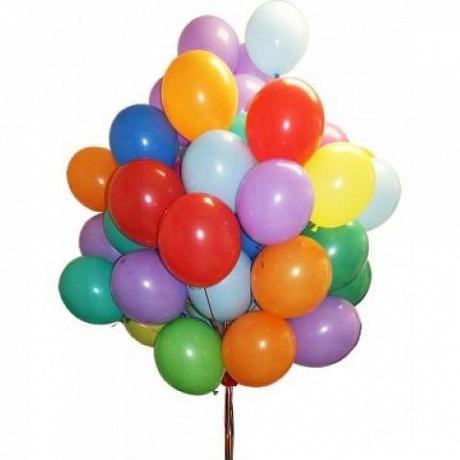 Набор из 25 разноцветных гелиевых шаров «Счастье»