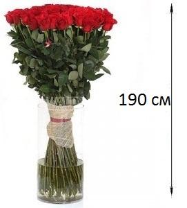 Букет из 101 красной розы  «Великое чувство»