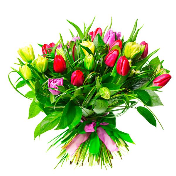 Букет из тюльпанов «Первый звонок»