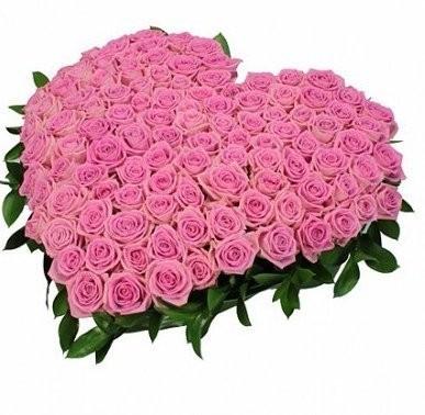 Цветочная композиция из 101 розовой розы Аква  «Влюблённость»