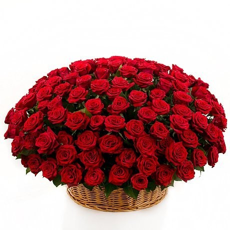 Корзина цветов со 151 красной розой «Страсть царицы»