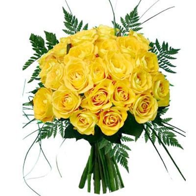 Букет из 18 желтых роз  «Кэтрин »