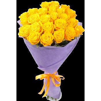 Букет из 27 роз желтого цвета  «Мое сокровище »