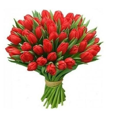 Букет из 35 красных тюльпанов «Страстное танго»