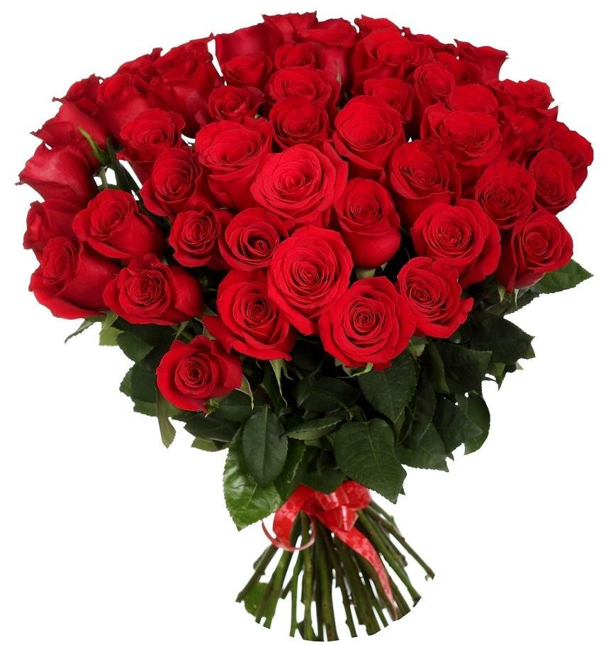 Букет из 41 красной розы Гран При «Песнь любви»