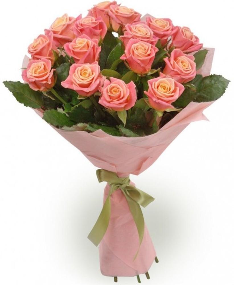 Букет  из 15 роз Мисс Пигги  «Долгожданное счастье»