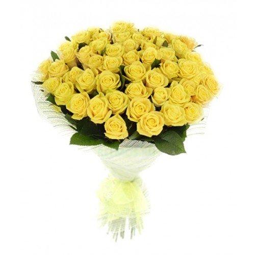 Букет из 51 желтой розы  «Золото любви »