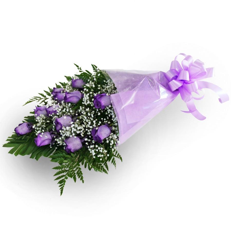 Букет из 11 фиолетовых роз «Свидание с любимой»
