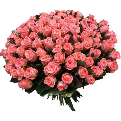 Букет из 101 розы «Испанские цвета»