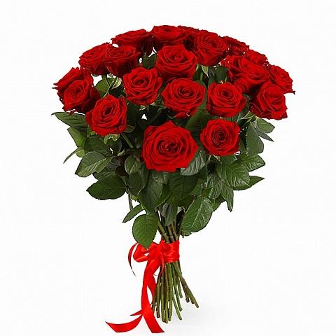 Букет из 21 красной розы «Свет любви»