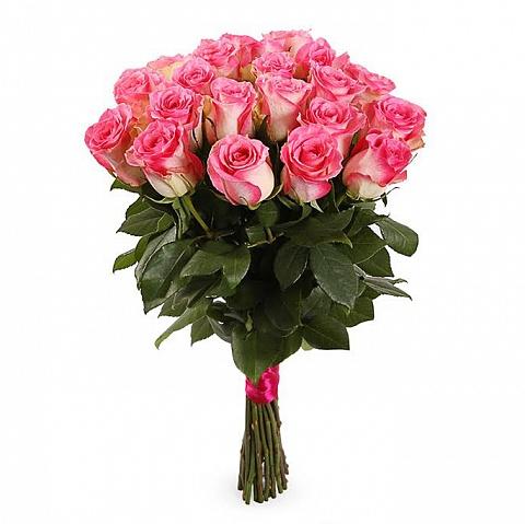 Букет из 21 нежно-розовой розы «Красота и романтика»