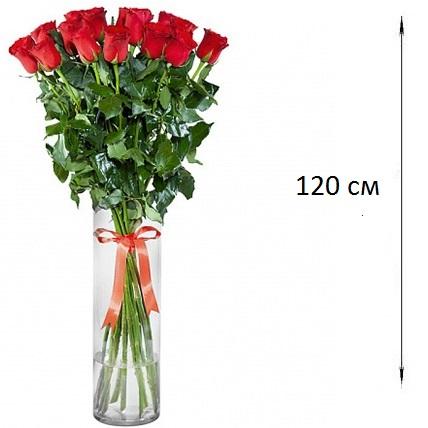 Букет  из 21 розы 120 см. «Любовная прихоть»