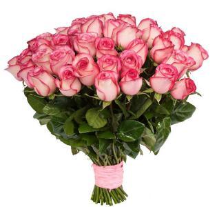 Букет  из 51 розы 90 см. «Сладкое головокружение»
