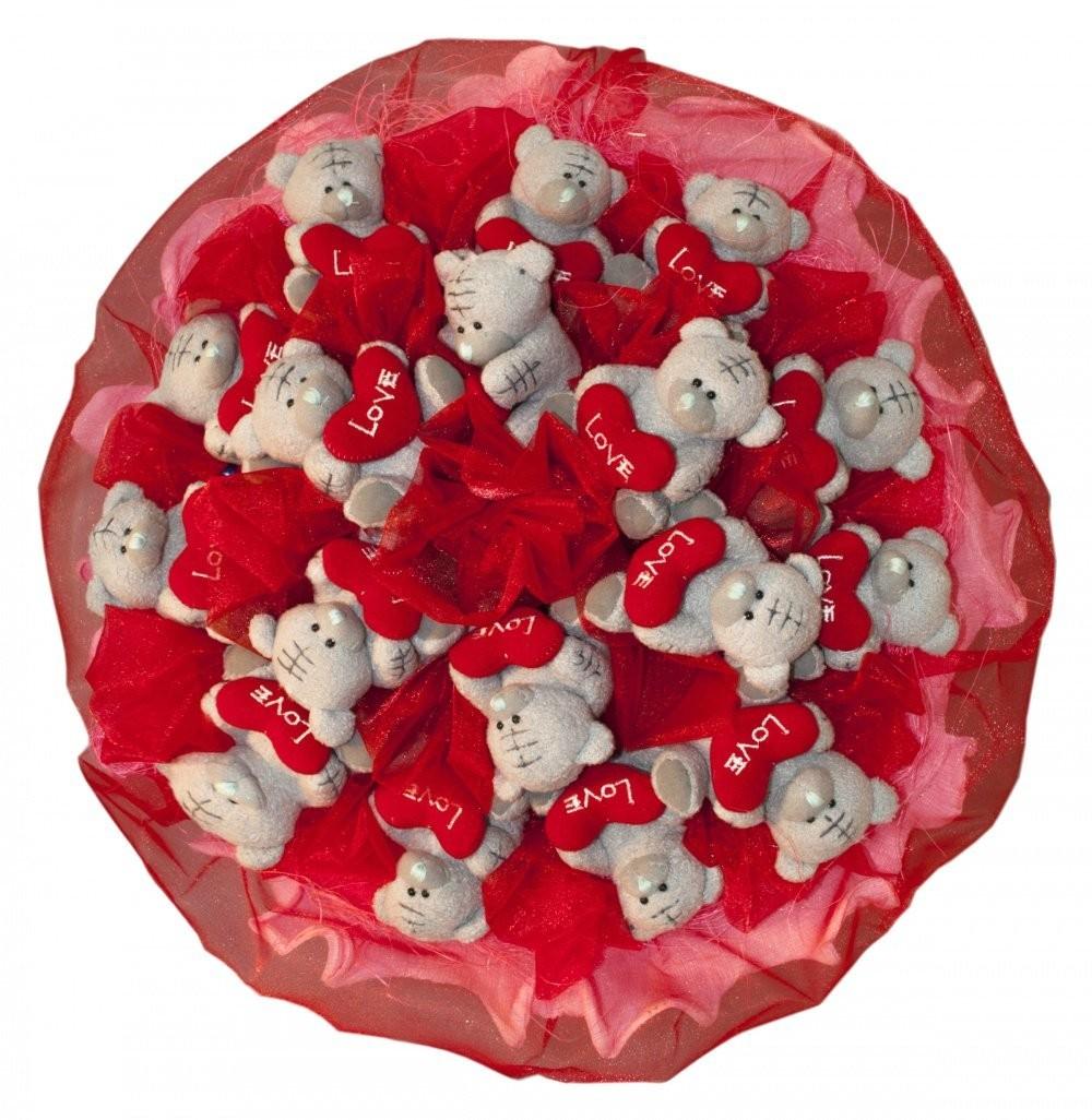 «Букет из игрушек 17 мишек Тедди»
