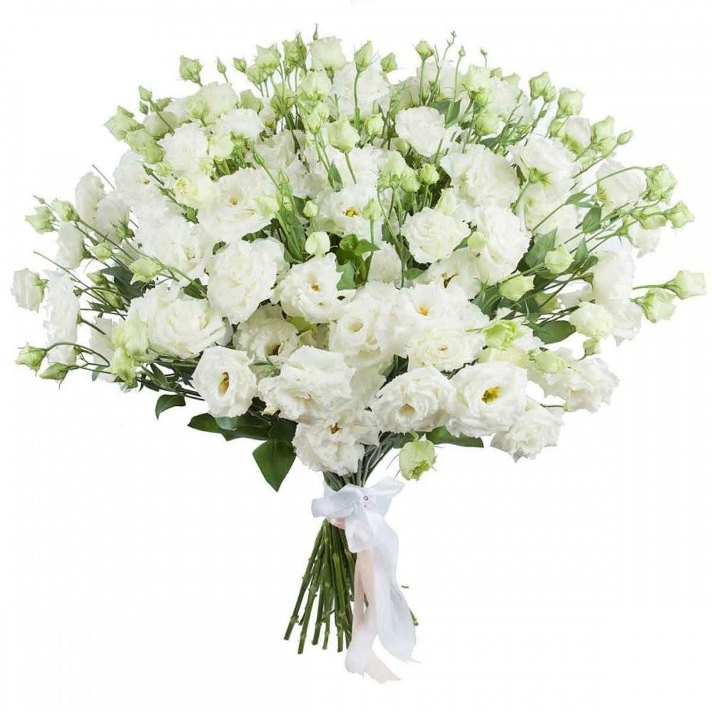 Букет невесты из 39 белых эустом «Невинность»