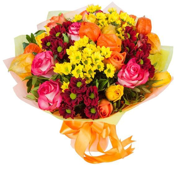 Букет  из ярких цветов «Осенние краски»